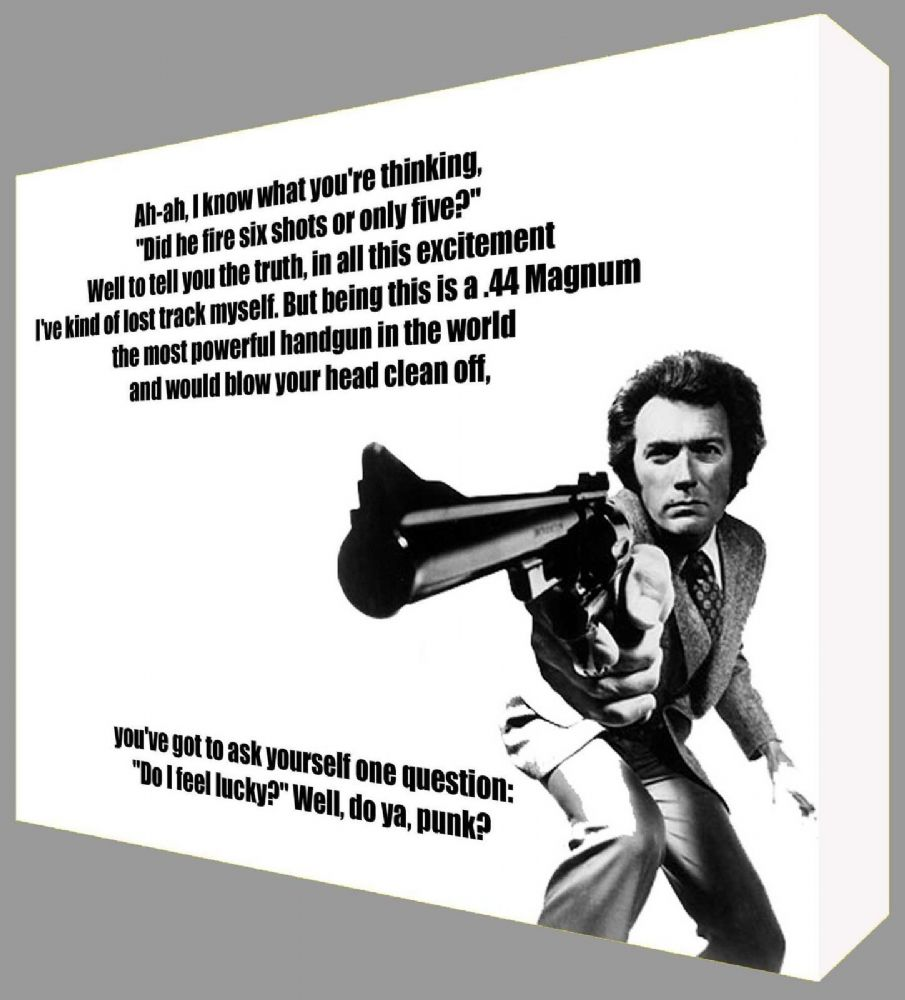 Dirty Harry Quote Clint Eastwood Canvas Art Ready To
